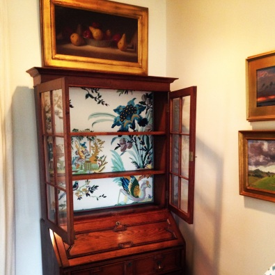 Upholstered China Cabinet