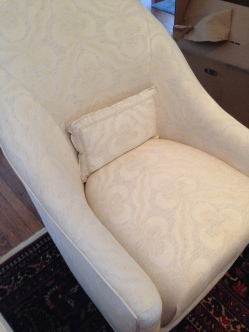 Kravet Chairs upholstered in this beautiful ivory print.